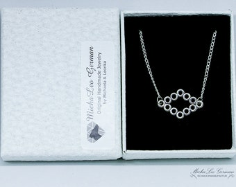 Statement bracelet silver plated, trendy design, delicate chain in 3 sizes, with gift box