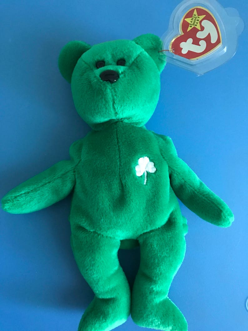 91949675030 Rare Erin Beanie Baby with tag errors Collectors item