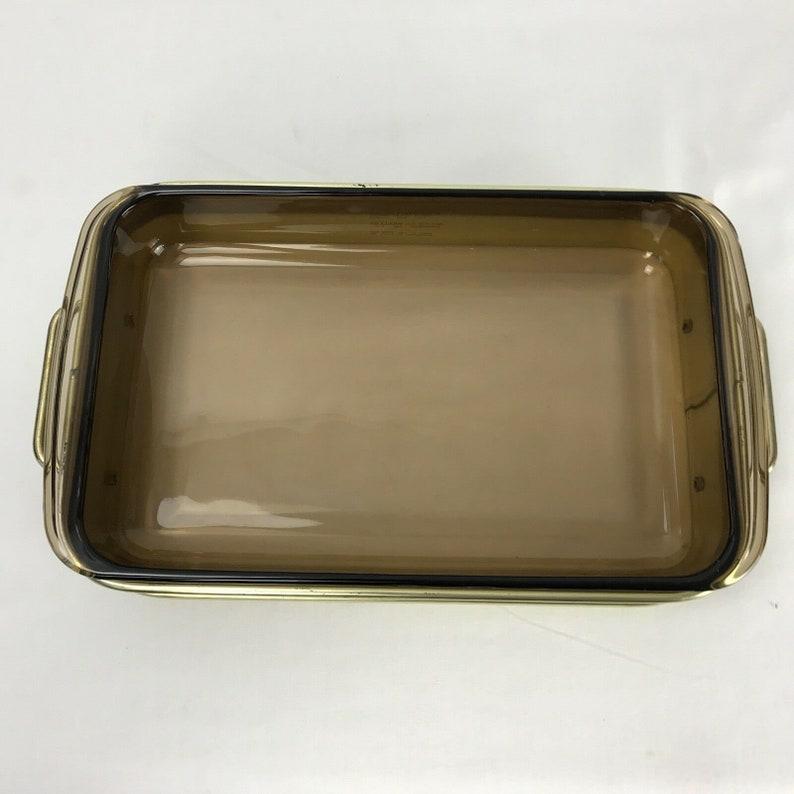 Vintage Pyrex Metal Cherry Casserole Dish Holder 232-N wInsert Corning 11 X 7