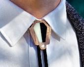 Contemporary Bolo Tie Style Necklace | Modern Art Deco
