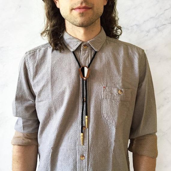 Bolo Tie For Men  Geometric Bolo Tie  Music Bolo Tie  Wedding Bolo Tie  Gift for Musician