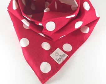 Pink Polka Dot Dog Bandana Over the Collar Bandana Polka Dot  Dog Bandana Tie On Bandana