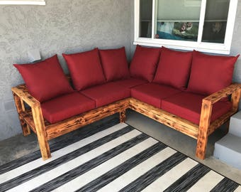 Sectional Outdoor Wooden Couch