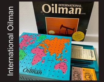 Oilman Game - RARE early edition International Oilman board game, late 80s, oil and gas strategy, complete, excellent cond., made in Canada