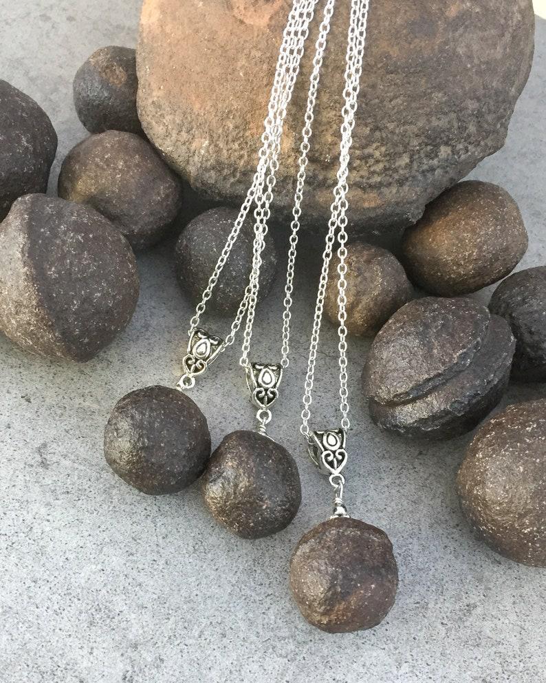 Shaman Stone Pendant Moqui Marble Protection Necklace Ancient and Wise Meditation Stone Boji Stone Meditation Necklace