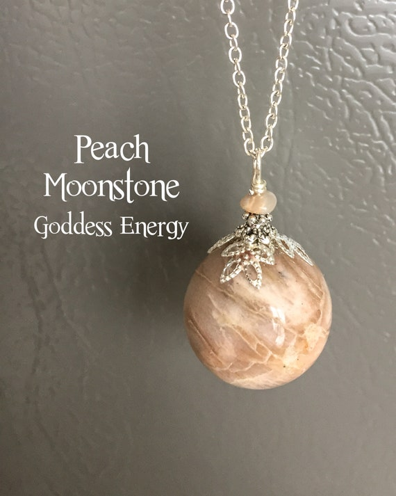 Rainbow Moonstone Feminine Wisdom Goddess Energy Necklace  Dreams Hopes /& Wishes Necklace  Intuition Jewelry  Personal Growth