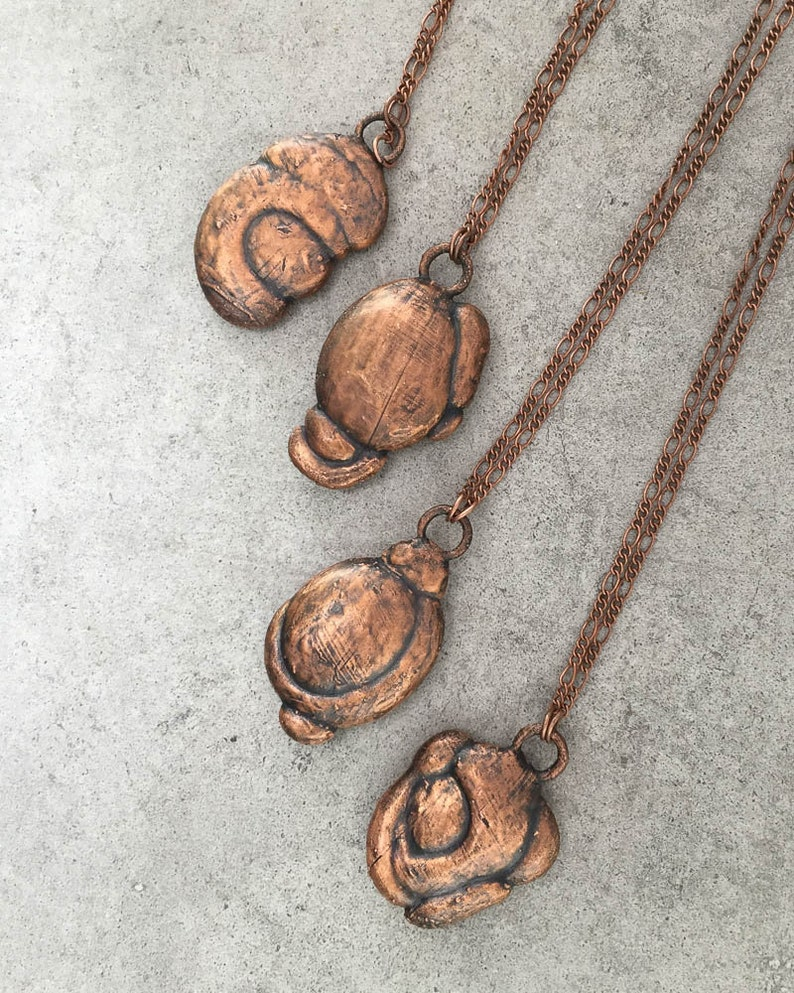 Health /& Prosperity Jewelry Lucky Talisman Rare Fairy Stone Electroformed Copper Necklace Goddess Stone Natural Clay Glacial Concretion