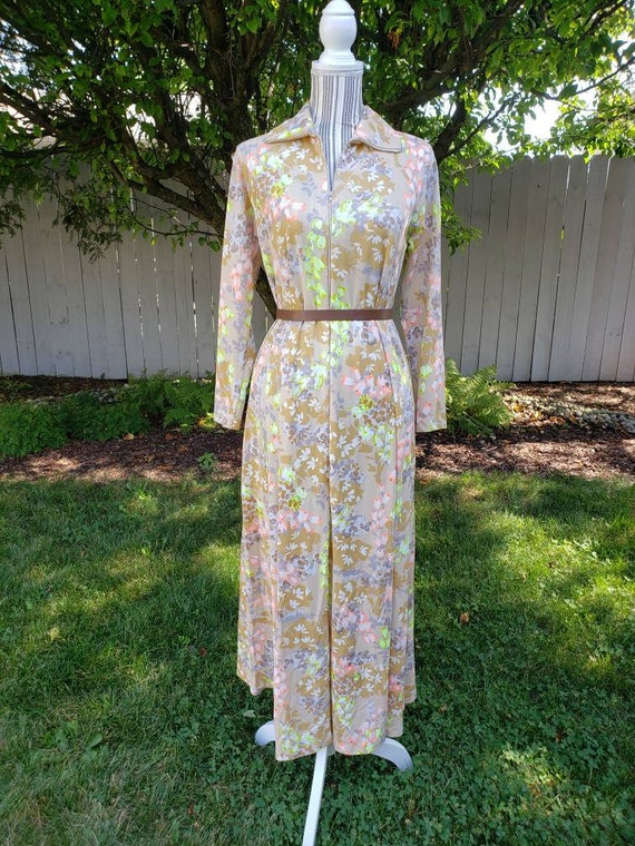VTG 1970's Georgie Keyloun Lounging Dress - S/M