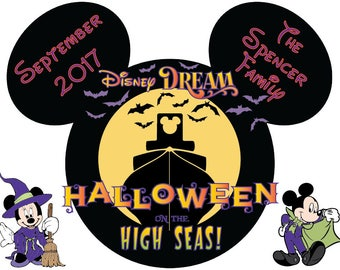 Disney Cruise Door Magnet Halloween Customized Family Magnet
