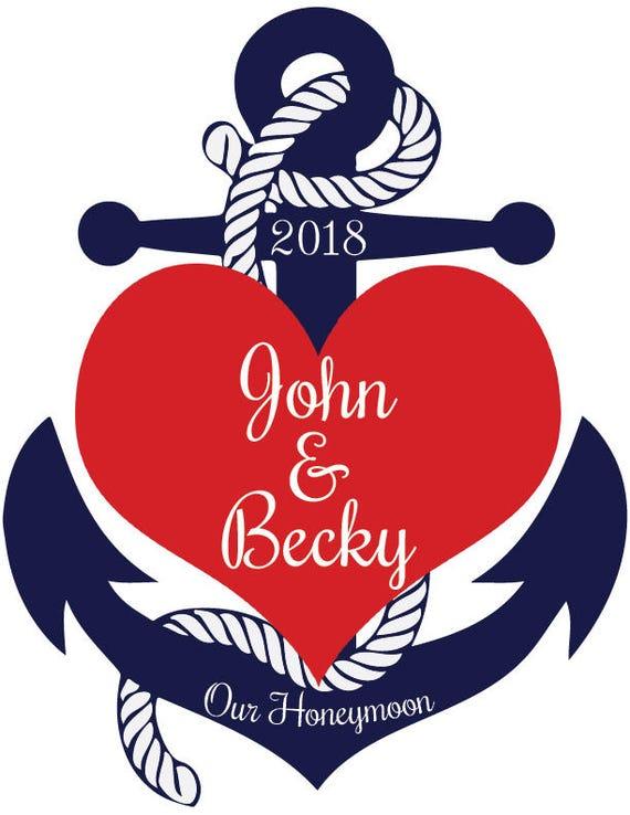 Cruise Line Door Magnet Anniversary Honeymoon Carnival Etsy