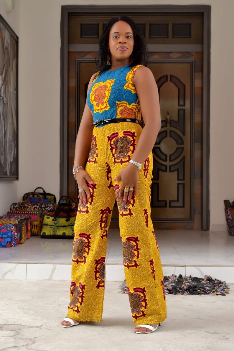 Ankara JumpsuitDunni JumpsuitMixed Print Quality Print African Print Female WearAnkara Style