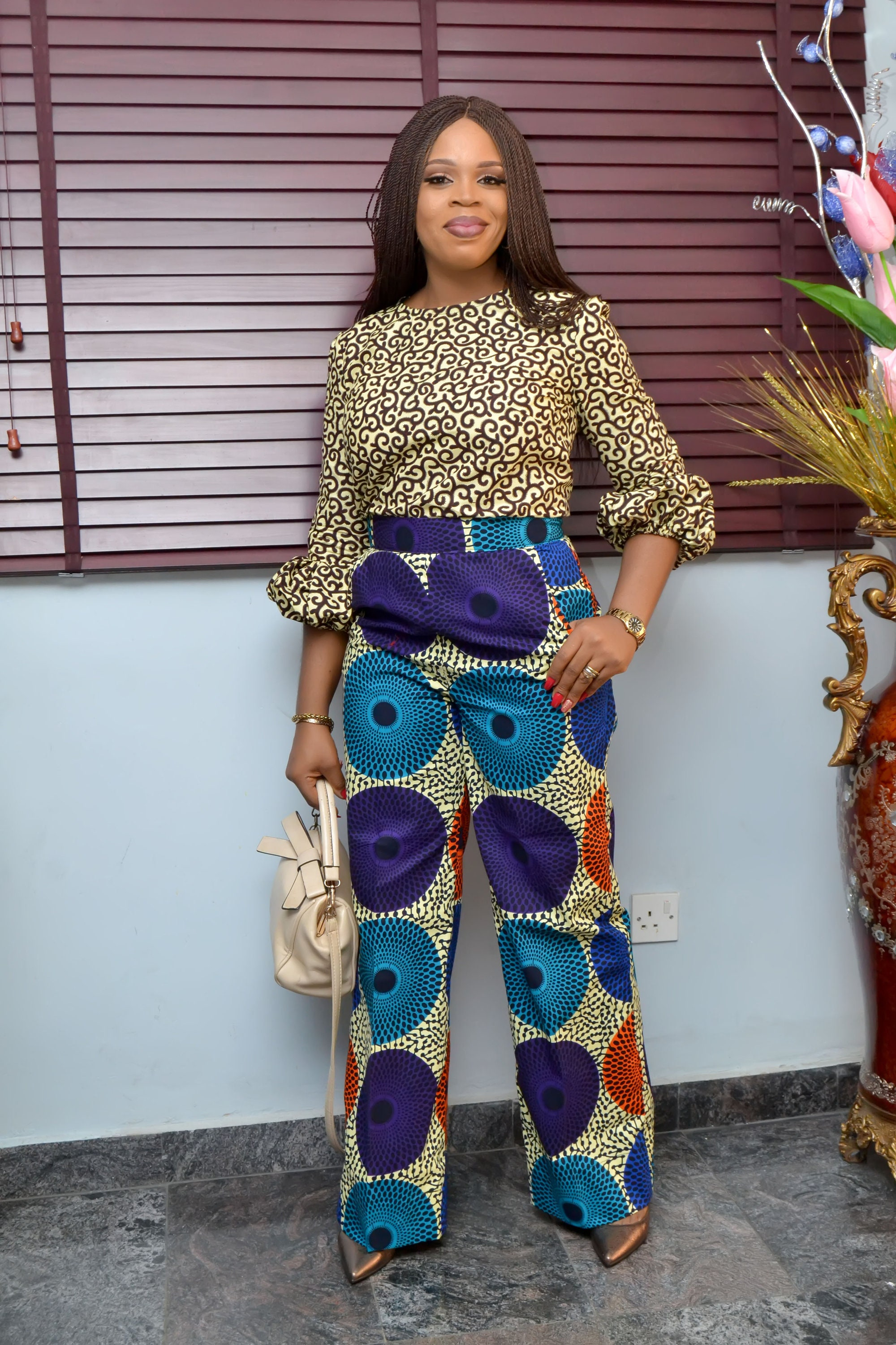 ff0fa9f3586 Wide Leg Pant   Top Set  African Fashion  Graduation gift for