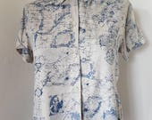 World Map Button Down Shirt.Items Similar To Vintage 80s 90s Liz Claiborne Womens World Map