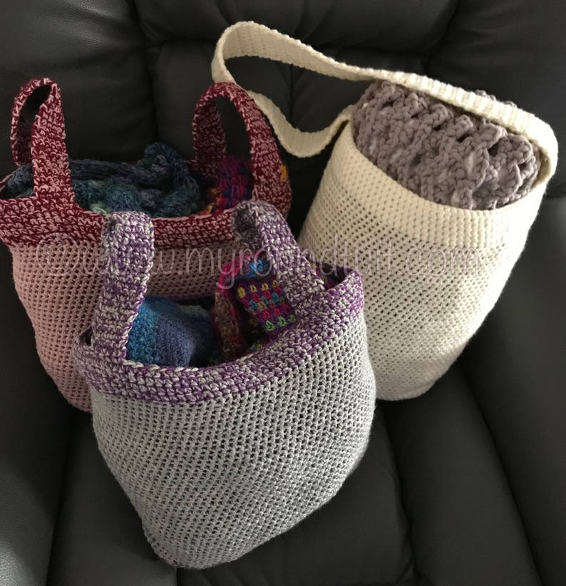 Medium Sized Crocheted Tote Bag Be Eco-Friendly  Ditch the image 0