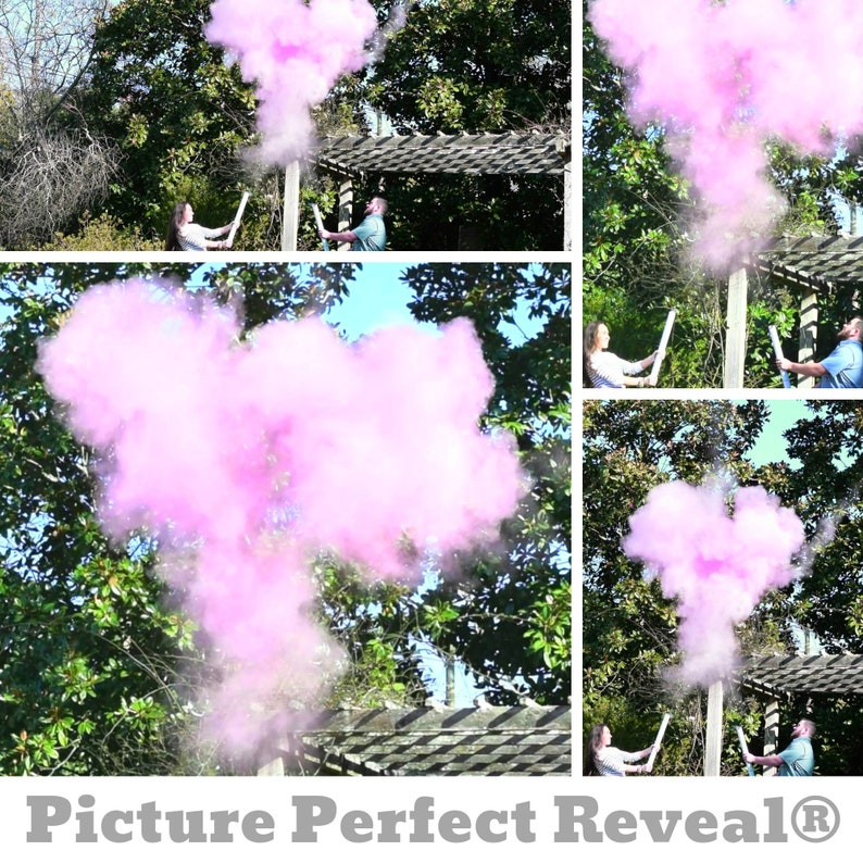"24/"" Gender Reveal POWDER boy HE blue party popper cannon reveal"