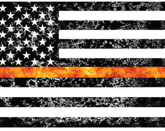 Thin Red Line- Fire Fighters Sticker