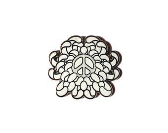 Flower of Peace Enamel Pin