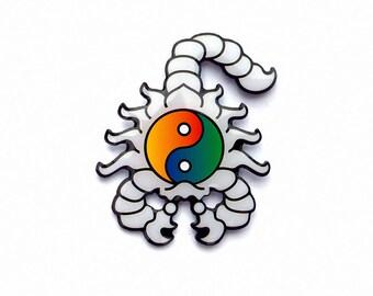 Scorpion of Balance Enamel Pin