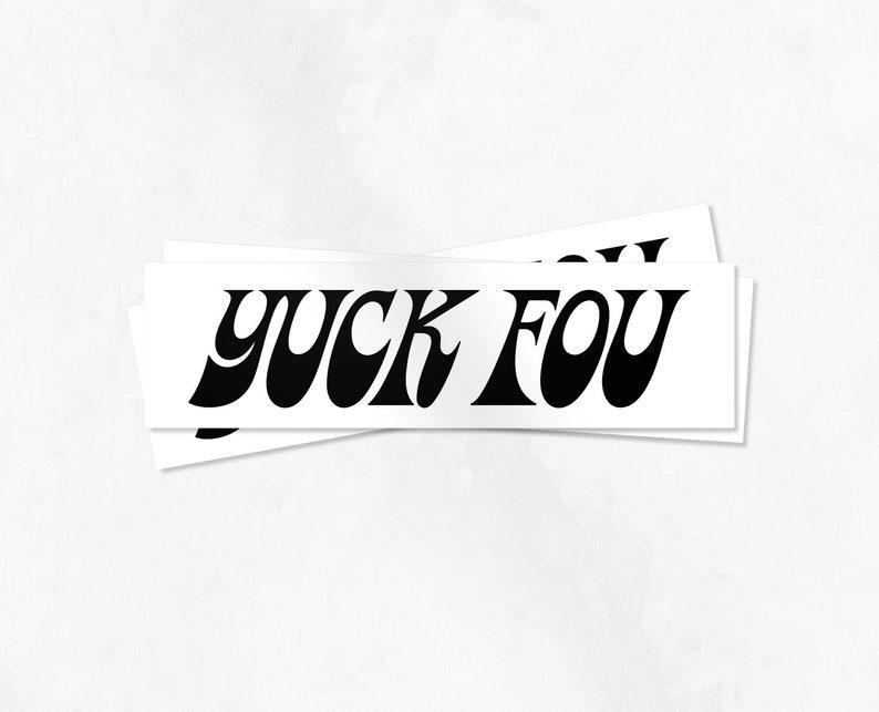 Yuck Fou Stickers Set of 3 image 0
