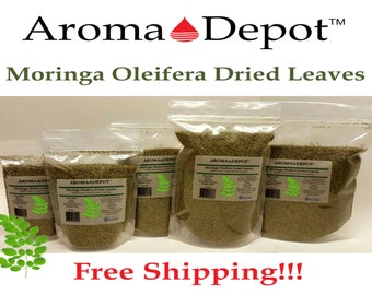 Moringa Oleifera Dried Leaves 100% Pure Natural From 1 oz up to 1.5 Lb. Pouches b FREE SHIPPING! U.S.A Seller