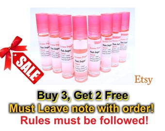 Women's Pink Sugar Roll-On Perfume Oils 10ml Bottles. Long Lasting & No Dilutions. Buy 3, Get 2 Free.
