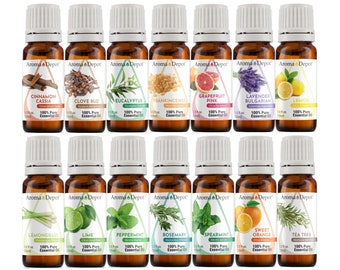 Essential Oil set - 14 Set - 100% Pure, Undiluted, Therapeutic Grade 10 ml.