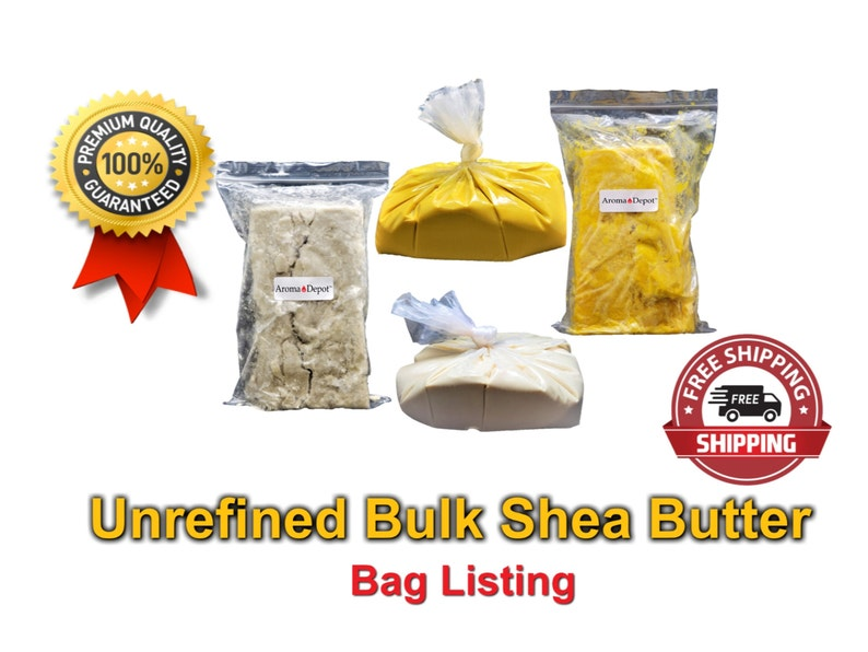 Raw Shea Butter Unrefined 100% Pure Bulk BAG image 0