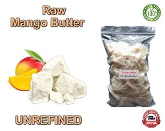 Raw Mango Butter Natural 100% Pure Organic SKIN, BODY & HAIR. Bulk bag Listing. Free Shipping!