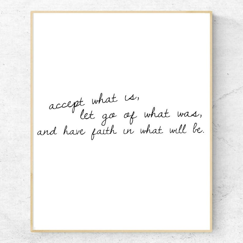 Accept What Is Quote Printable Digital Print 8x10 Letting Etsy