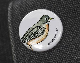 American Robin Birding Pin