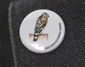 Red Shouldered Hawk Bird Pin