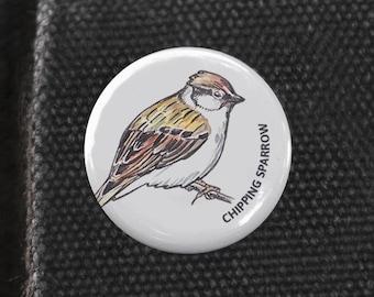 Chipping Sparrow Bird Pin