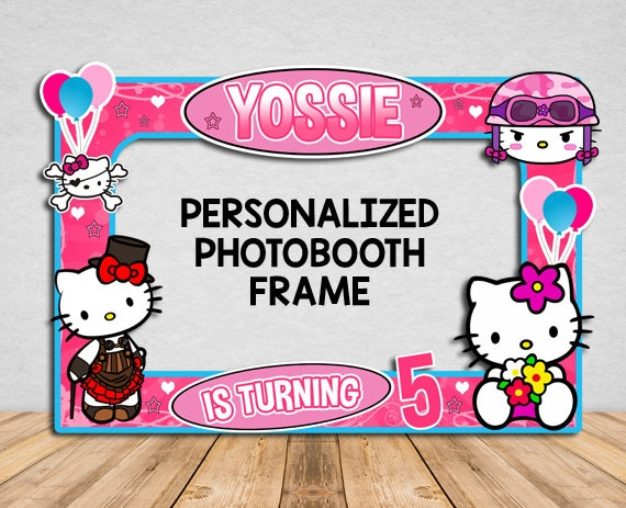 Bonjour Kitty Cadre De Photo Booth Hello Kitty Photo Booth Etsy