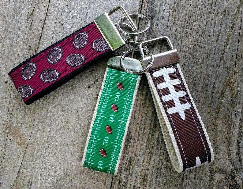 Sports Hand Crafted Key Fob Wristlet//Key Chain