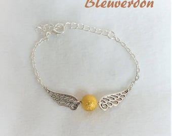 Inspired by harry potter Golden snitch bracelet