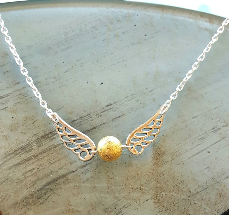 Bright gold inspired by Harry Potter necklace