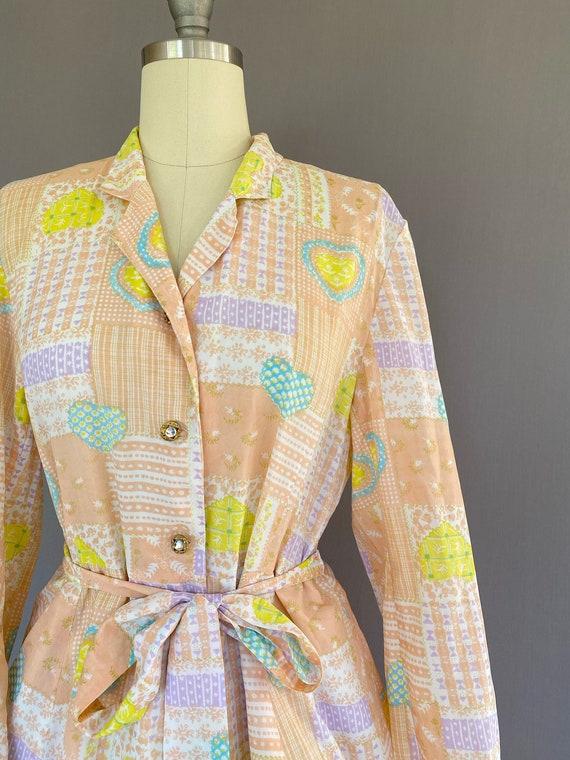 Vintage novelty print dress - vintage Japanese dr… - image 3