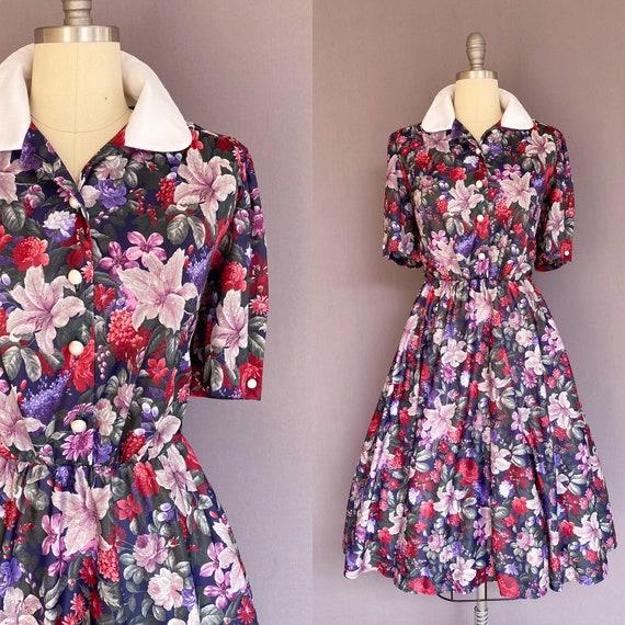 1990s floral dress - vintage floral dress - vintag