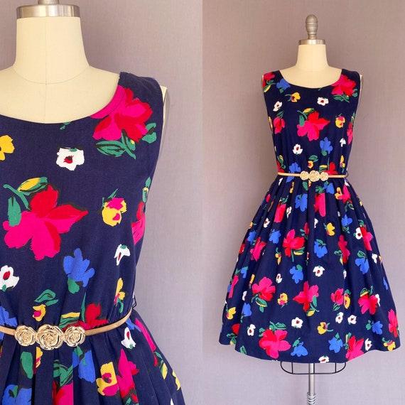 1980s floral dress - 80s floral dress - 80s does f