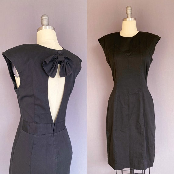 1980s little black dress - 80s vintage dress - 198