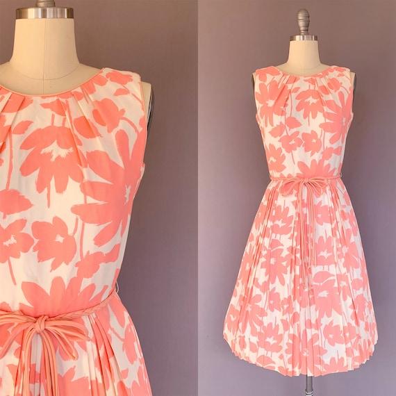 1960s pink dress - vintage pink dress - vlv dress