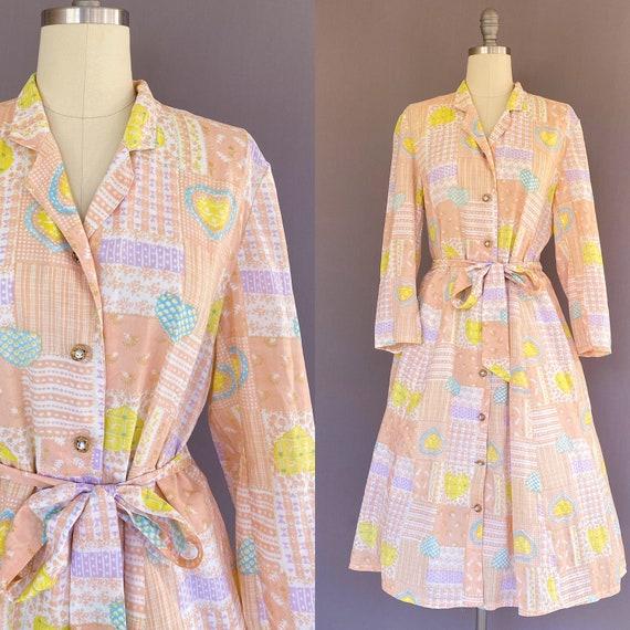 Vintage novelty print dress - vintage Japanese dre