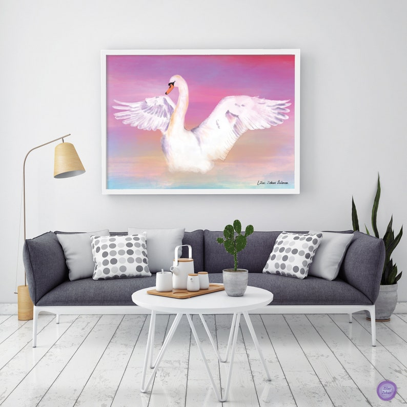 Home decor wall art, Large canvas art, Wall painting for bedroom, Bedroom  paintings, Bedroom wall art canvas, Watercolor Bird Painting