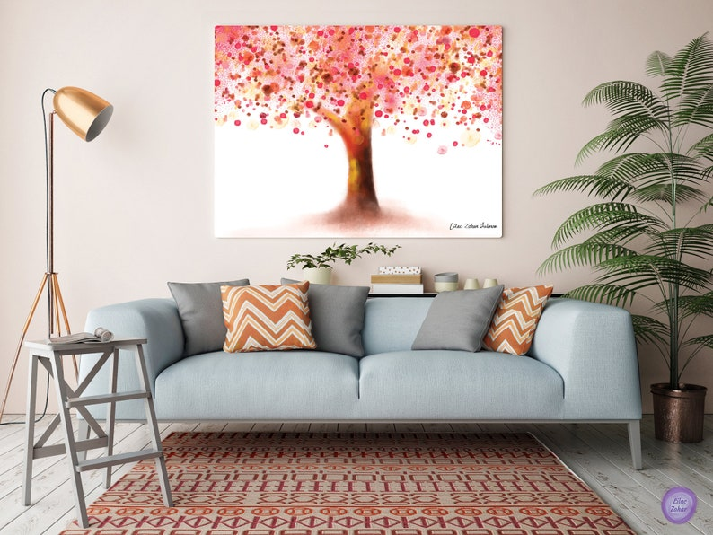 Tree Wall Art Canvas Art Tree Tree Painting Tree Canvas Wall Art Bedroom Paintings Original Wall Hanging Wall Painting For Living Room