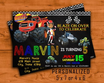 Blaze and The Monster Machines Invitation, Blaze Invitations, Blaze Birthday, Blaze Birthday Printable, Blaze and The Monster Machines