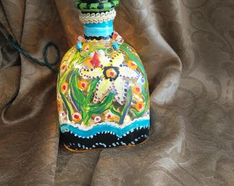 Hand painted patron bottle