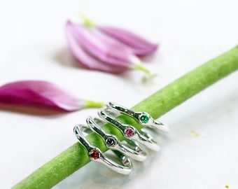 Colourful Sterling Silver Stack Rings