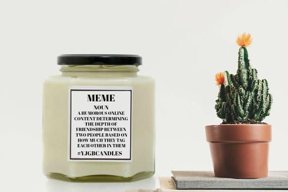 Meme Gift Meme Candle Meme Dictionary Meaning Gift For Etsy