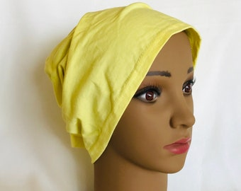bf4679a3185 yellow cotton chemo cap
