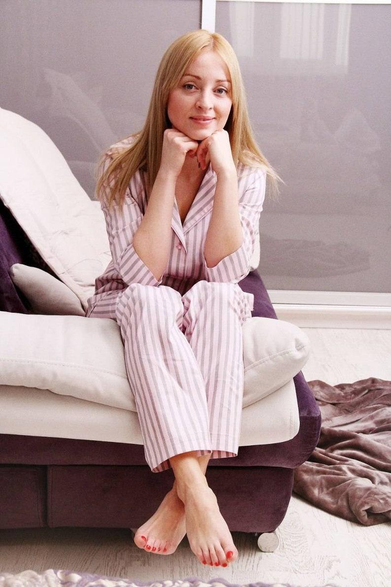 f08b48cf4 Christmas Pajama set Women Long Pants Pink Pyjama Matching | Etsy